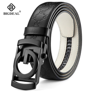 BIGDEAL Men Belts Cow Genuine Leather Belt For Men Metal Automatic Buckle Male Strap High Quality Cowhide Male Newest Waistband  MartLion