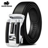 BISON DENIM Genuine Luxury Leather Men Belt Automatic Alloy Buckle Male Belt Top Quality Genuine Cowskin Leather Strap W71533  MartLion