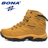 BONA New Hot Style Men Hiking Shoes Winter Outdoor Walking Jogging Shoes Mountain Sport Boots Climbing Sneakers Free Shipping  MartLion