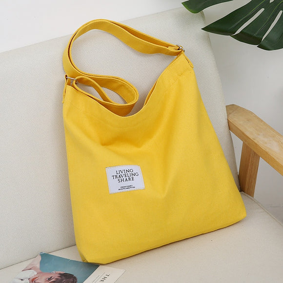 Bags for Women 2019 New Women Canvas Handbag Simple Large Capacity Shoulder Bags Retro Style Ladies Handbag Bolsa Feminina - Mart Lion  Best shopping website