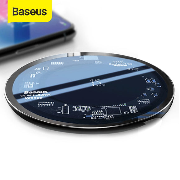 Baseus 15W Qi Wireless Charger for iPhone X/XS Max XR 8 Plus Visible Element Wireless Charging pad for Samsung S9 S10+ Note 9 10