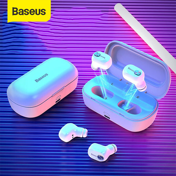 Baseus Wireless Bluetooth Earphone Headphone 2000mAh Battery Bluetooth 5.0 Stereo Bass Wireless earphones With HD Microphone