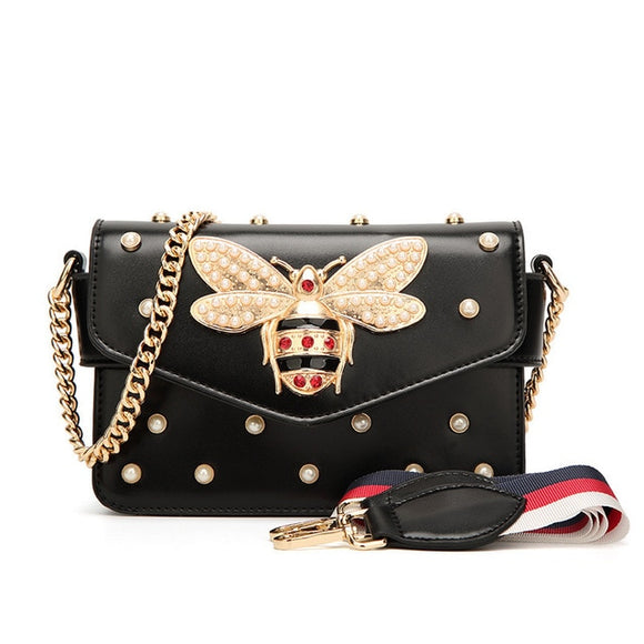 Bee Pearl Crossbody Bags For Women 2021 Chains Bee Luxury Handbags Designer Famous Brand Shoulder Bag Hand Sac A Main Female - Mart Lion
