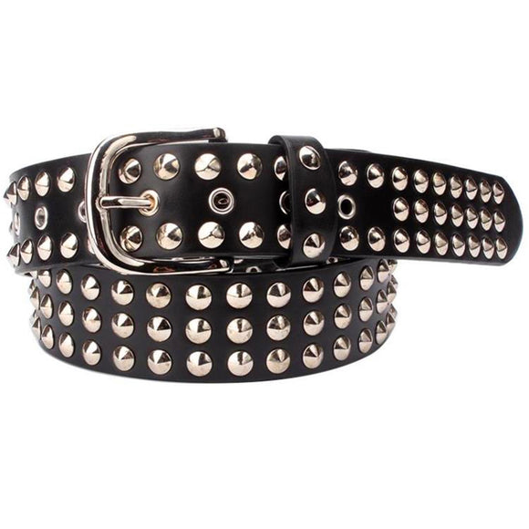 Big metal rivet belt women Round rivets Spike sequins belt punk Simple decorative waistband belt for men - Mart Lion  Best shopping website
