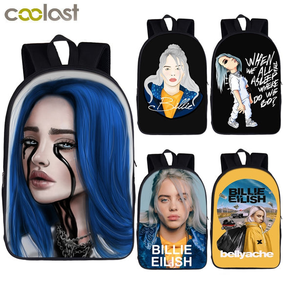Billie Eilish backpack for teenager boys girls hip hop children school bags rapper women causal bag student school backpack  MartLion.com