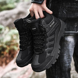 Black Ankle Boots For Men Hiking Shoes Casual Outdoor Sneakers Designer Outdoor Leather Military Combat Boots Men Size 39-49 Bot  MartLion