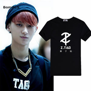 BomHCS Kpop EXO Z.TAO t shirt Unisex Summer Cotton Short Sleeve Tee Shirt Tops Fans Support - Mart Lion  Best shopping website