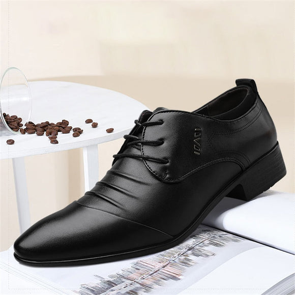 Brand Italian Mens Leather Shoes Big Size Luxury Dress Shoes Men High Quality Office Loafers Man Casual Wedding Shoes zapatos  MartLion