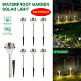 Bright Solar Garden Lights 1/6/12Pcs Outdoor Lawn Light for Pathway Garden Yard Decor Warm White Waterproof Led Lighting Lamps  MartLion
