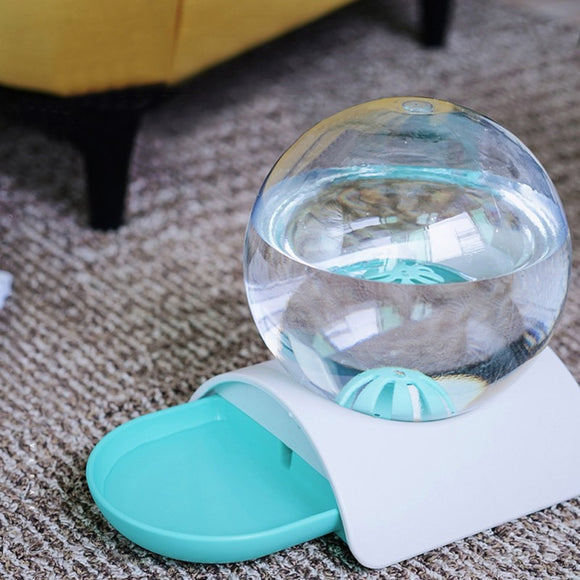 Bubble Automatic Pet Cat Water Feeder For Pet Dogs Large Capacity Water Dispenser With Ball Cat Water Drinking Bowl  MartLion.com