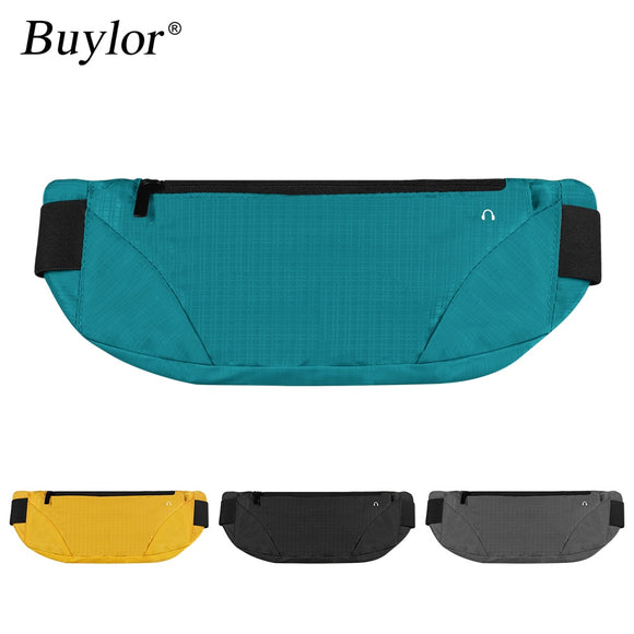 Buylor Fanny Packs Gym Waist Bag Hip Bum bag Women Men Sports Lightweight Running Belt Waterproof Breathable Phone Pouch Jogging