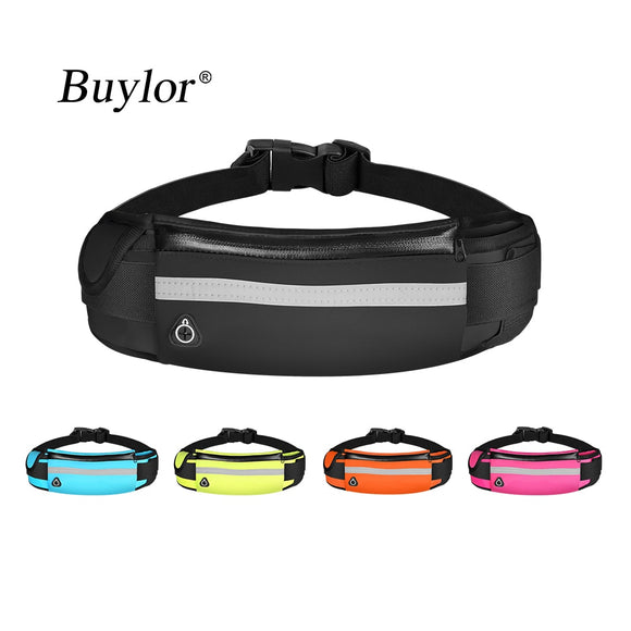 Buylor Sports Waist Bag Men Running Belt Bag Women Bum Bag Waterproof Fanny pack Wallet Pouch Belt Portable Phone Holder Gym