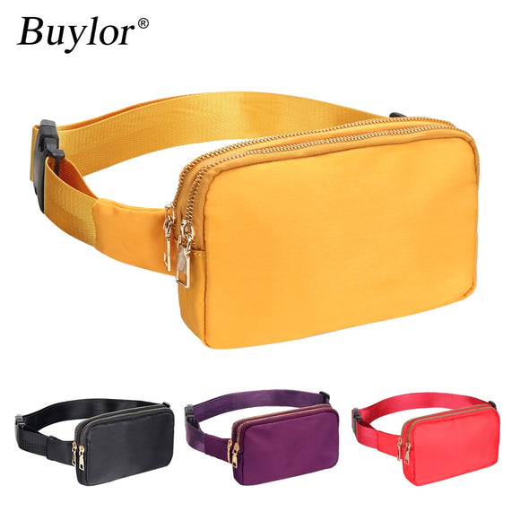 Buylor Waist Bag Fanny Pack Fashion Women Hip Bum Bag Shoulder Chest Pack Waterproof Crossbody Bag With Adjustable Strap