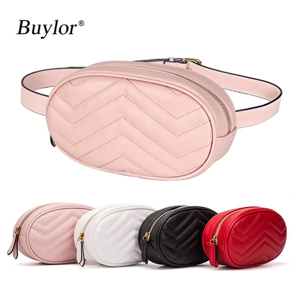 Buylor Waist Packs Women Designer Belt Bag Fashion Fanny Pack Chest Bag  Girls Cute Easy Phone Pocket PU Leather Hot Bumbag