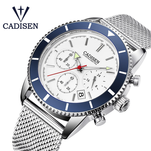 CADISEN 2019 New Men's Watches Fashion Quartz Mens watches top Brand Luxury Sports Military Watch Men clock relogio masculino  MartLion.com