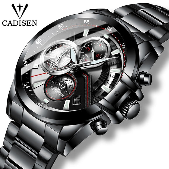 CADISEN 2019 New Quartz Men's Watches Sports Business/Waterproof/Watch Men Stainless Steel Male Wrist Watches Relogio Masculino  MartLion.com