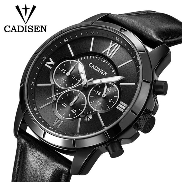 CADISEN Mens Watches Analog Quartz Watch With Date Luminous Hands Waterproof  Wristswatch Luxury Male Clock Relogio Masculino  MartLion.com
