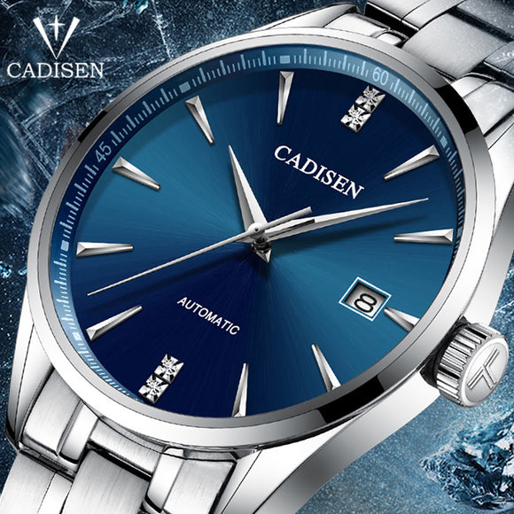 CADISEN Top Brand Luxury Men's business watch steel men watch automatic mechanical male wirstwatch waterproof relogio masculino  MartLion.com