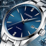 CADISEN Top Brand Luxury Men's business watch steel men watch automatic mechanical male wirstwatch waterproof relogio masculino  MartLion