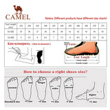 CAMEL Black Genuine Leather Casual Shoes Men High Toe Triple s Fashion Breathable Chunky Men Sneakers 2020 New кроссовки мужские  MartLion