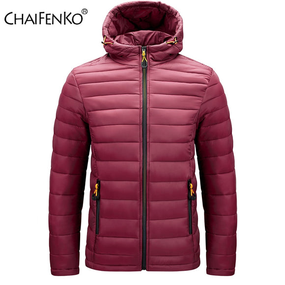 CHAIFENKO Winter Warm Waterproof Jacket Men 2020 New Autumn Thick Hooded Cotton Parkas Mens Fashion Casual Slim Jacket Coat Male