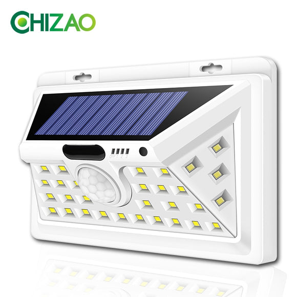 CHIZAO LED Solar lights Outdoor Motion sensor wall lamps Waterproof Emergency light Suitable for Garden Front door Garage Fence  MartLion