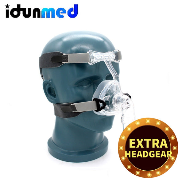 CPAP Nasal Mask NM2 With Adjustable Headgear Strap Breathing Apparatus Support CPAP Machines Sleep Apnea Therapy Snoring Stopper