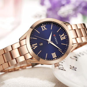 CURREN Women Watches Top Brand Luxury Casual Rose Gold Steel Watch Classic Dial Ultra-Thin Quartz Wristwatches Relogio Feminino  MartLion
