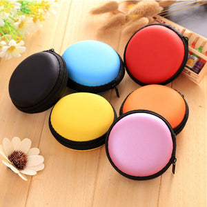 Candy Color Earphone Wire Organizer Box Data Line Cables Storage Box Case Container Coin Headphone Protective Box Case Container  MartLion