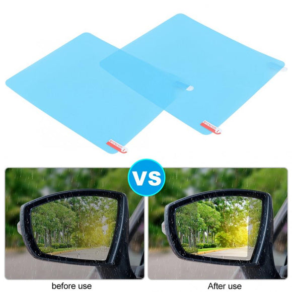 Car Rainproof Rearview Mirror Sticker Anti-Fog Protective Film Rain Shield 175x200mm Car Styling Rearview Mirror Film  MartLion
