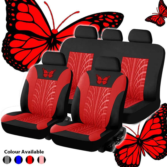 Car Seat Cover Set Universal High-quality Personality Tire Track Splicing Auto Styling Accessories Interior Accessories