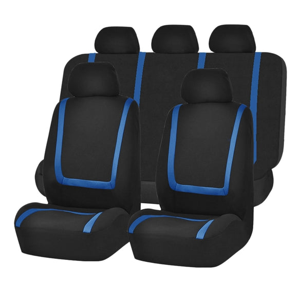Car Seat Covers, Front and Rear Bench Back Seat Cover Set, Detachable Headrests,for Cars Trucks and SUVs