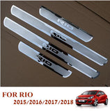 Car Stainless Steel Door Sill Scuff Plates for New KIA RIO 2012-2019 EU RIO2 RIO3  MartLion.com