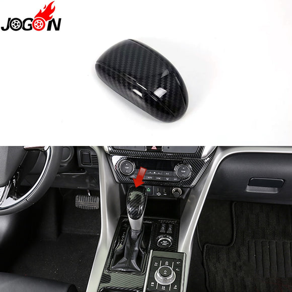 Carbon Fiber Look For Mitsubishi Eclipse Cross 2018 2019 Car Styling Interior Gear Shift Knob Head Cover Trim Accessories  MartLion