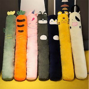 Cartoon Animals Plush Long Pillow Plants Long Cushion Carrot Unicorn Tiger Husky Cow Stuffed Toys Bedroom Sleeping Pillow Gifts  MartLion