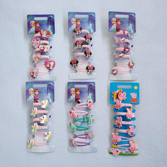 Cartoon Hair Gum Princess Elastic Rubber Band children HairPins BB Hair Clips Headband Kids Hair Accessories Girl Hair Band  MartLion