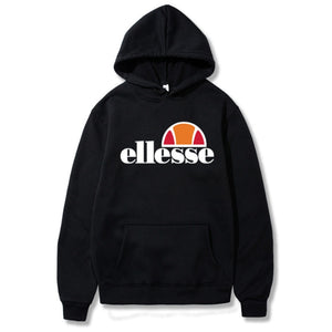 Casual Pullover Hooded Clothes Solid Color Regular Loose Hooded Hoodies Unisex Ellesse Tide Letter Printing Hoodies Men Women  MartLion