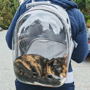 Cat Backpack Transparent Carrying Bag Travel Space Capsule Pet Dog Cat Carrier Transport Bags For Cats and Small Dogs  MartLion
