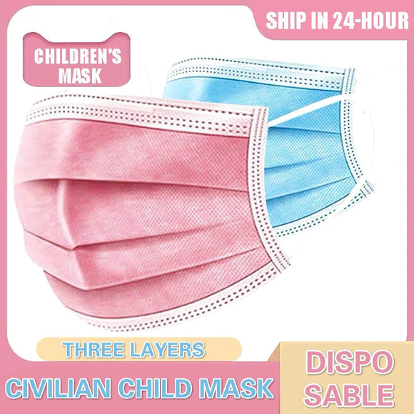 Child Disposable Mask 3 Ply Child Filter Hygiene Thicken Children's Face Mouth Mask Earloop 24h Fast Shipping
