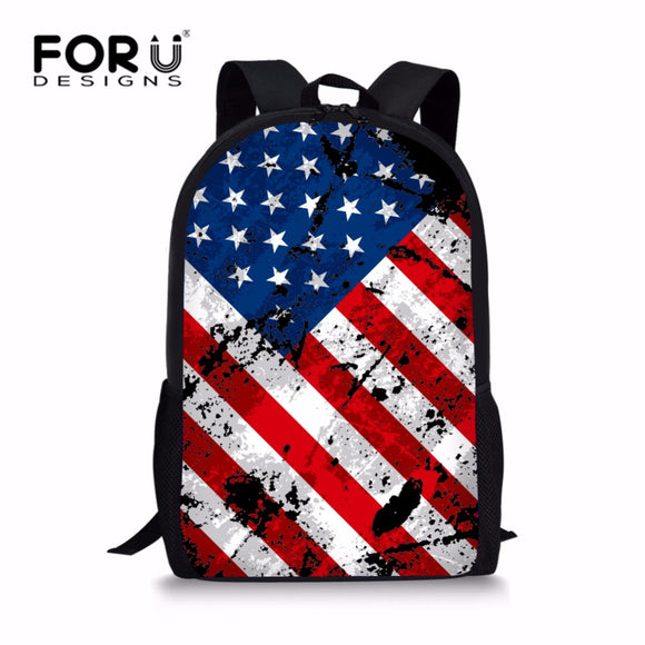 Classic UK USA Flag Backpack Primary Children Kids Bagpack Elementary Art Painting American Flag Schoolbag Rucksack Personalized  MartLion