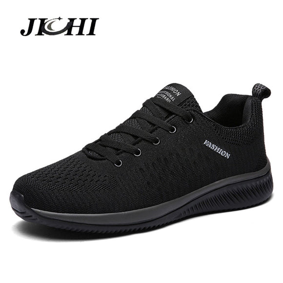 Comfortable Casual Shoes Men Breathable Walking Shoes Lightweight Sneakers Black Footwear Men Lace Up Running Shoes Men Big Size - Mart Lion  Best shopping website