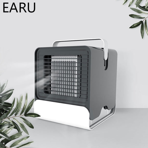 Convenient Air Cooler Fan Portable Digital Air Conditioner Humidifier Space Easy Cool Purifies Air Cooling Fan For Home Office  MartLion