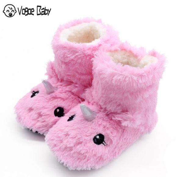 Cute Animal Print Girls Slippers Soft Warm Plush Kids Slippers Winter Boot Socks 2-7Year Old Boys Slippers  MartLion