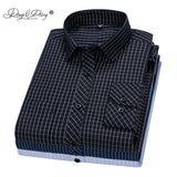 DAVYDAISY 2020 New Arrival Men Shirt Long Sleeve Shirts Twill Plaid Fashion Causal Dress Man Shirt 17 Colors Brand Clothes DS342  MartLion