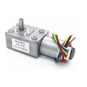 DC6V 12V 24V 2rpm to 150rpm Low Speed High Torque Full Metal Gearbox Encoder Turbo Worm Gear Motor  MartLion