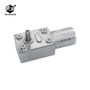 DC6V/12V24V 2RPM to 150 RPM High Torque Speed Reducer Metal Worm Gear Box Motors Reversible Low Speed Worm Gear Motor JGY370  MartLion