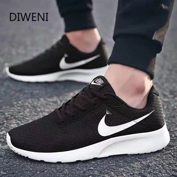 DIWEINI 2019 Fashion Men Shoes Casual Weaving Fly Mesh Breathable Light Soft Black Slipon Mens Shoe Male Trainers Sneakers B160  MartLion