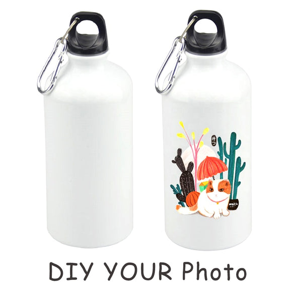 DIY photo print 750ml Aluminum Sports Water Bottles Cycling Camping Bicycle Bike Kettle Outdoor Riding drinking bottle  MartLion