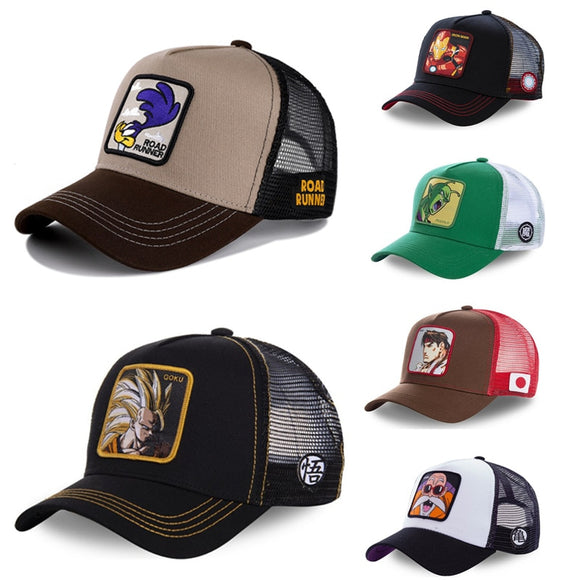 DRAGON BALL MARVEL Snapback Cap Cotton Baseball Cap Men Women Hip Hop Dad Mesh Hat Trucker Dropshipping - Mart Lion  Best shopping website
