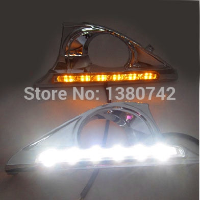 DRL for Toyota Camry Daytime running light with turn signal light Special Car DRL for Toyota Camry DRL 2012 Free shipping  MartLion
